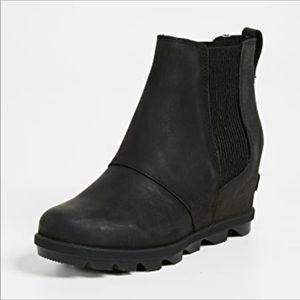 Sorel Joan of Arctic Wedge II Waterproof Booties Matte Black Size 8